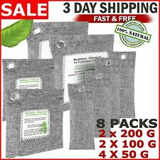 Air Purifying Bag 6 Pack Nature Fresh Style Charcoal Bamboo Purifier Mold Odor