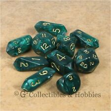 NEW Set of 12 Wood Dice /& Bag Bunco RPG Board Game 16mm Wooden Clear Stained D6