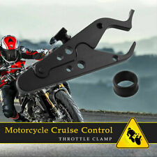 Motorcycle Black CNC Cruise Control Throttle Clamp Lock Assist Retainer Grip