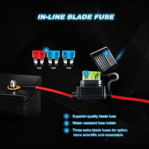 Nilight ZH082 20Inch 126W Spot Flood Combo Road 12V 5Pin Rocker Switch LED Light Bar Wiring Harness Kit 2 Years Warranty