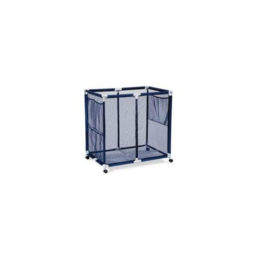 Modern Blue Pool Storage Bin Extra Large Perfect Contemporary Nylon Mesh Basket Organizer For Your
