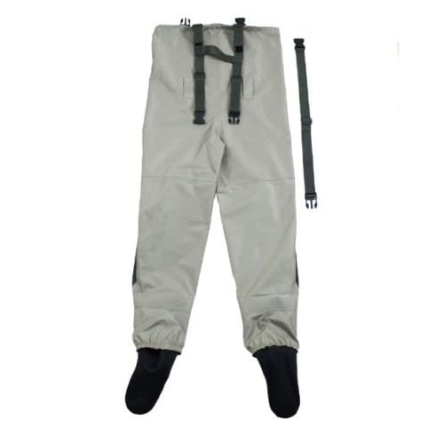 mufly Waterproof Fishing Waders Foot Wader PVC River Boot-Foot Fishing Boot Hip Waders with Cleated Soles