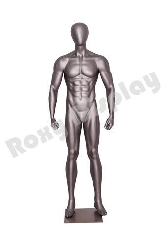 Athletic Style MZ-NI-2 ROXYDISPLAY/™ Eye Catching Male Headless Mannequin Standing Pose with Straight arms.
