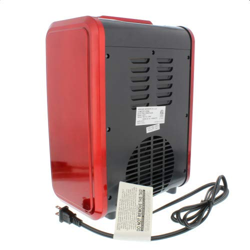 Comfort Zone CZFP1 Mini Ceramic Tabletop Fireplace Heater for Indoor Use Red