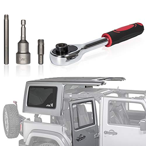 Danti Universal Jeep Wrangler Hard Top Quick Removal Fastener Thumb Screw and Nut Kit for Jeep Wrangler YJ TJ JK JKU Sports Sahara Freedom Rubicon X /& Unlimited X 2//4 door 1995-2017