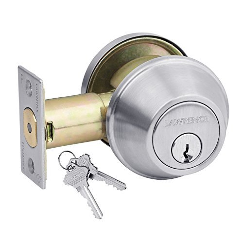 Privacy Brushed Chrome US26D Commercial Cylindrical Lever Heavy Duty Non-Handed Grade 2 Door Handle Lawrence LH5322L Bathroom