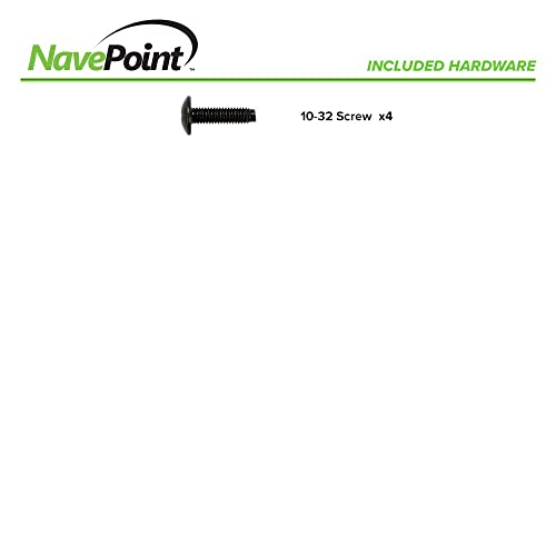 NavePoint 12U Vertical Rack Rail Pair DIY Kit with Hardware