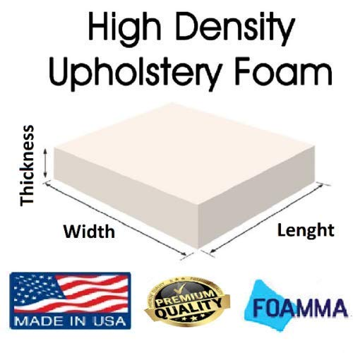 FoamRush 3 H x 16 W x 44 L Upholstery Foam Cushion Medium Density Chair Cushion Bench Foam for Dinning Chairs, Bench Seat Cushion Replacement, Foam Rubber Padding