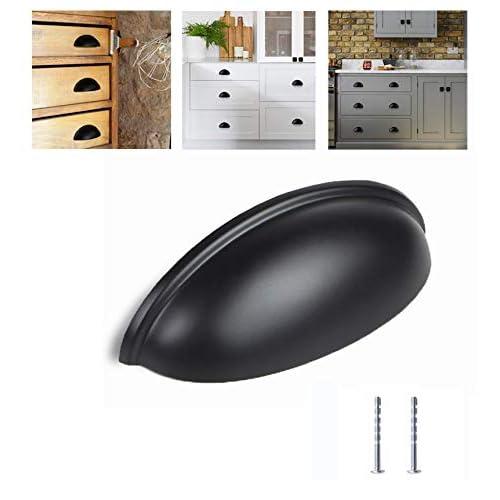 Satin Nickel Kitchen Cabinet Pulls 10 Pack ... 3 Inch Bin Cup Drawer Handles