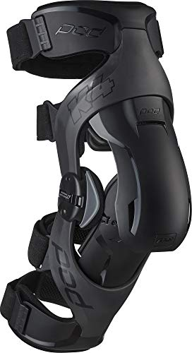 Carbon//Blue, Large Right POD Unisex-Adult K8 Knee Brace