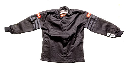 RaceQuip 111005 111 Series Large Black SFI 3.2A//1 Single Layer Driving Jacket by RaceQuip