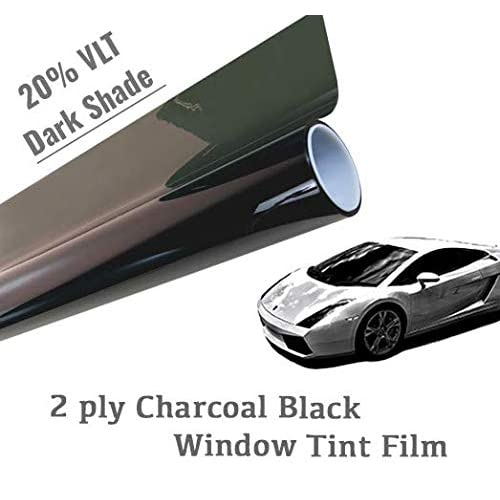 Mkbrother Wimax Dark Smoke 20/% VLT 20 in x 20 Ft Feet Uncut Roll Window Tint Film Auto Car Home 20 x 240 Inch