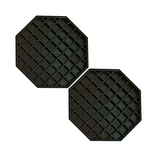 Round Rubber Lined New Star Foodservice 24944 Non-Slip Tray Brown 11 inch Plastic