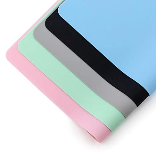 Non-Slip Waterproof Heat Resistant Tablemats for Dining and Decoration Set of 4,Black-White RUIHE Silicone Placemats Kids Placemats Size 16 x 12 Inches