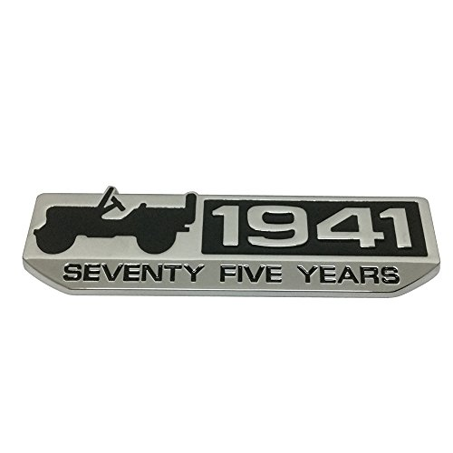 New 1pcs 34mm x 124mm Silver HIGH COUNTRY Emblem Badge Sticker Luster
