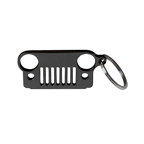 304 Stainless Steel Jeep Key Chain Grill for Key Ring  JK TJ YJ Multicolor