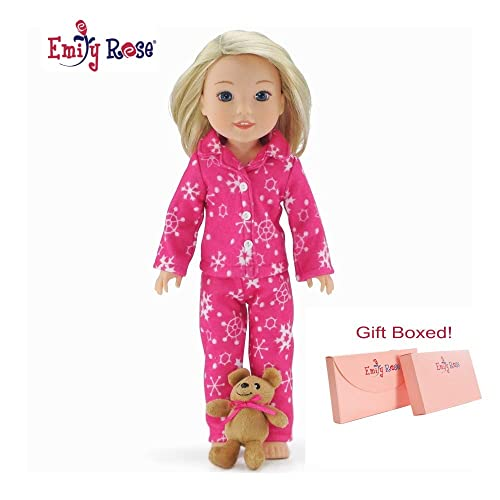18 Inch Doll Clothes Brittanys My Pink Robe with Slippers Compatible with American Girl Dolls
