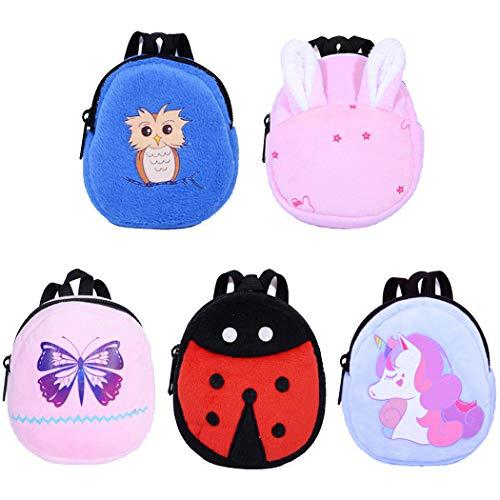 Ebuddy Minions Cartoon Backpack Schoolbag Doll Accessory For 18 inch American Girl