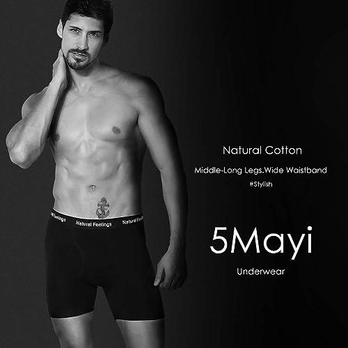 NINGMI 6 Pack Mens Boxers Shorts Stretch Soft Trunk Comfort Briefs Multi Pack Classic Fit Underwear