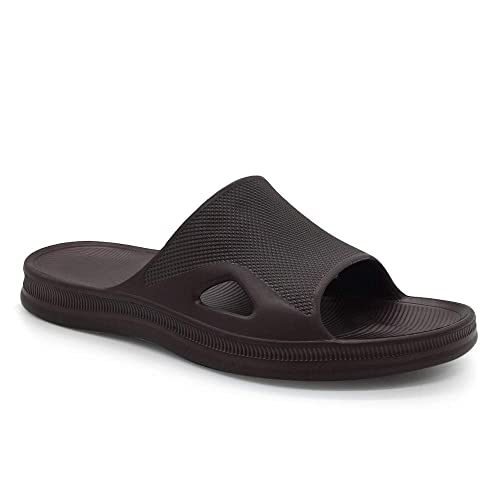 Kid Bathroom Slippers Shower Shoes Gym Slippers Soft Sole Open Toe House Slippers with Arch Support for Plantar Fasciitis