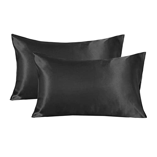 Home Satin Pillowcases Set of 2 for Hair and Skin King 20x40 Camel Pillow Case