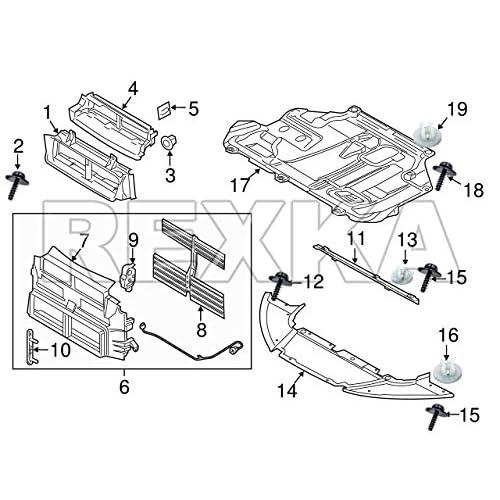 Ford Transit Focus Engine Cover Undertray Splash Guard Torx Socket Head clips