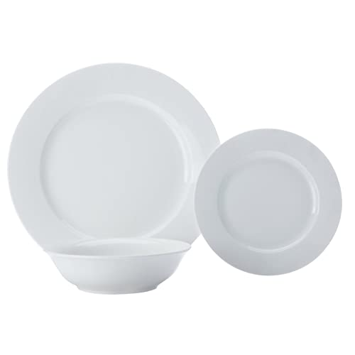 Set of 4 Porcelain Black Oval Maxwell Williams Caviar Dinner Plate Set 30 x 22 cm