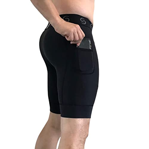 Short Pants Base Layer Tights Sport-it Mens Compression Workout Shorts Leggings with Pockets for Phone