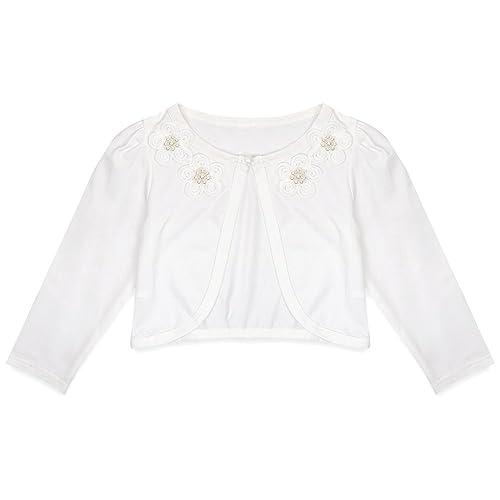 Lilax Baby Girls/' Knit Long Sleeve Bolero Shrug 3-6 Months White