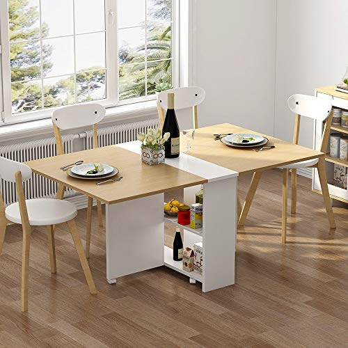 Tribesigns Folding Dining Table 6