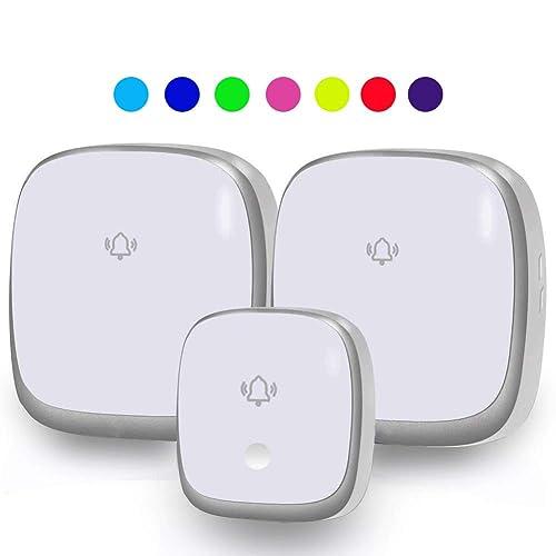 Self-Powered Wireless Doorbell No Battery Required Plug in Door ...