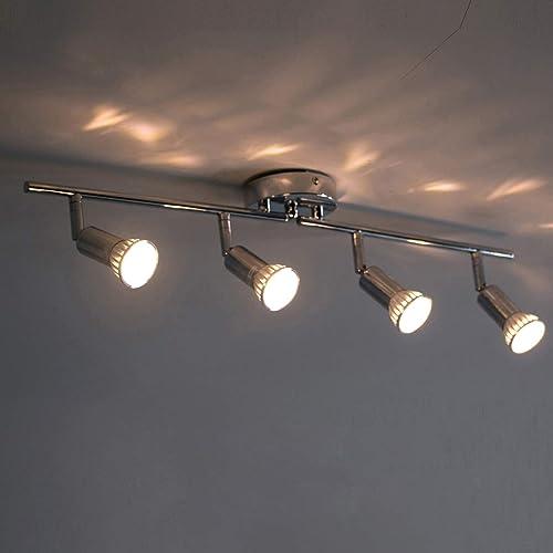 Led Track Lighting Modern Light Fixture Wall Accent Spotlight