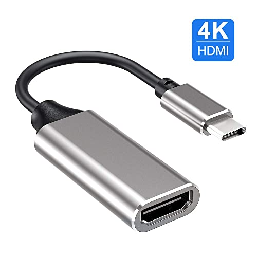 Thunderbolt 3 Compatible WARRKY USB Type c to HDMI Gray Pixelbook and More Samsung GalaxyS9//S8 Adapter for MacBook Pro 2018//2017 Surface Book 2 USB C to HDMI Adapter 4K Cable Dell XPS 15//13