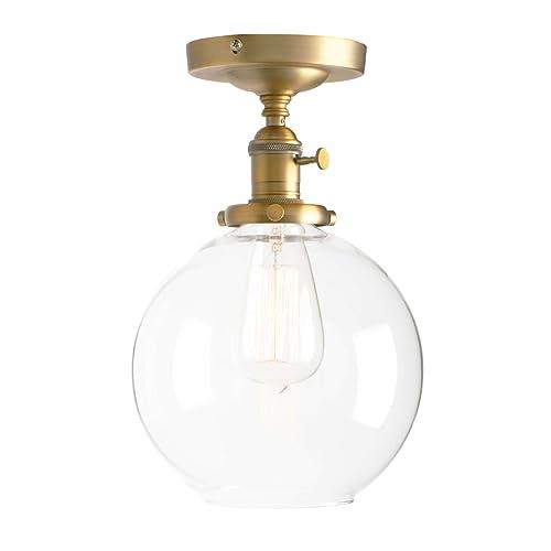 "1 of 5 chrome Ceiling- or Wall Lights Pretty vtg 7.9/"" white glass globe"