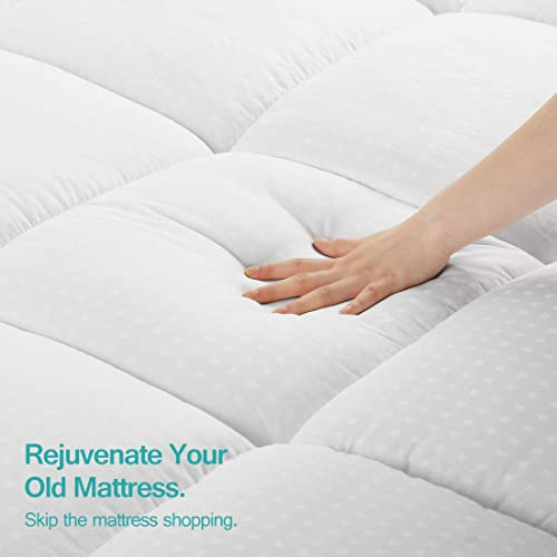 Queen ,Cooling Mattress Pad Cover,Pillow Top Sopat Extra Thick Mattress Topper