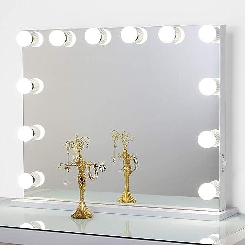 Toyswill Frameless Hollywood Mirror, Vanity Mirror With Lights Frameless