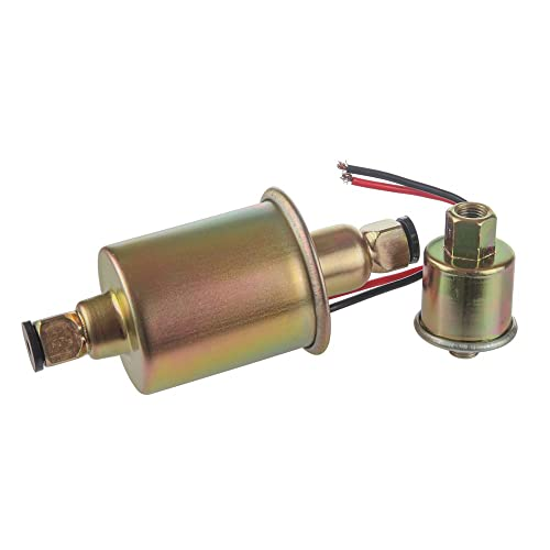 Electric Universal Fuel Pump 12 volt Solid State 5 to 9PSI E8012S Installation