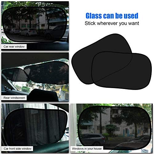 Pair Car Window Solid UV Protection Mesh Sun Blind Block Shades