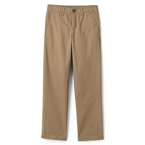 Lands End Boys Husky Iron Knee Chino Cadet Pants