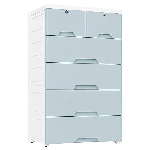 Nafenai 4 Drawer With 2 Cabinet Plastic Storage Bin Baby Closet