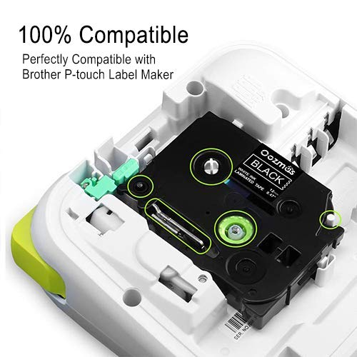 6-Pack Labelwell 12mm Tz Tapes Compatible for Brother Tze-231 Tze-131 Tze-335 Tze-MQP35 TZE-MQ835 TZe-MQG35 Laminated Label for Brother P-Touch PT-1000 PT-H110 PT-H101C PT-H105 PT-2030VP PT-P750W