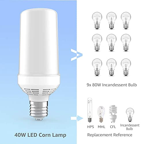 60w Led Mogul Bulb Light E39 Equivalent 300w Hid Hps 5000k For Shop Lighting Lamps Lighting Ceiling Fans Light Bulbs