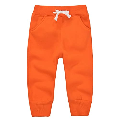 Toddler Baby Boys Girls Sweeatpants Cotton Pure Color Rocket Active Jogger Pants with Drawstring 1-6T