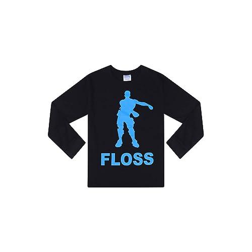 The PyjamaFactory Floss All Over Gaming Dance Black Gold Cotton Short Set Boys