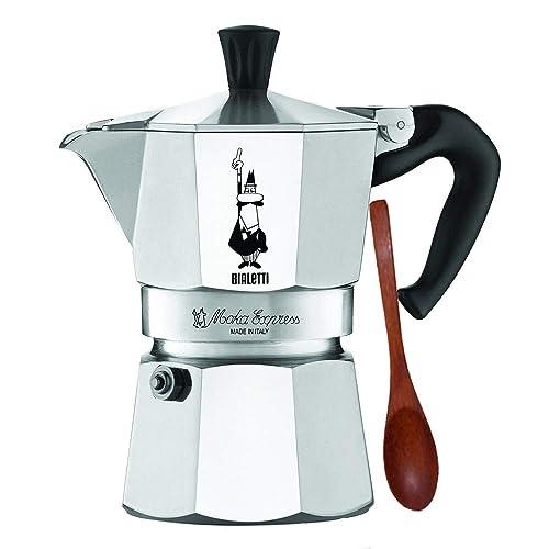 White 30 x 20 x 15 cm Aluminium Bialetti Elegance Espresso Maker for 6 Cups