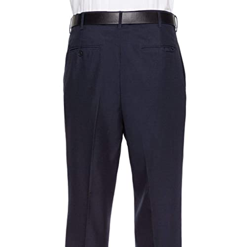 Black Gold Series by DXL Big and Tall Waist-Relaxer Hemmed Pleated Suit Pants 48 X 34