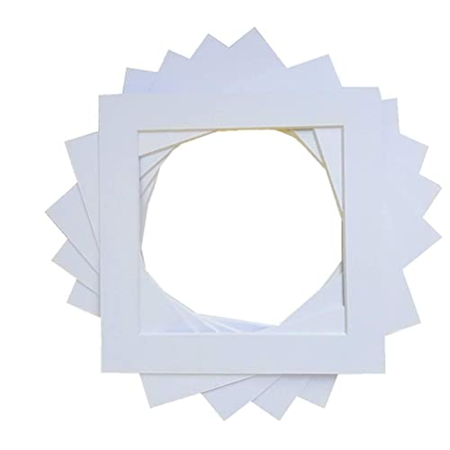 "Envelopes Papermania 5x7/"" Photo-Fit White Tri-Fold Aperture Frame Card Blanks"