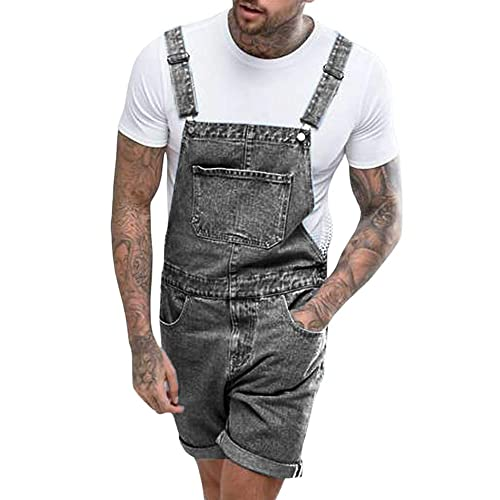 Dungaree Shorts Loose Fit Bib Overall Shorts