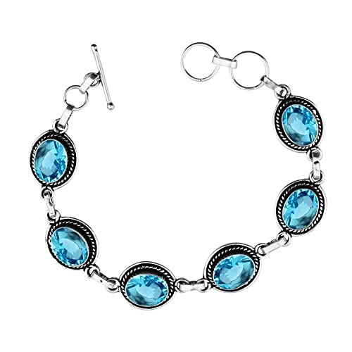 18.15ct,Genuine Turquoise /& 925 Silver Plated Bangle