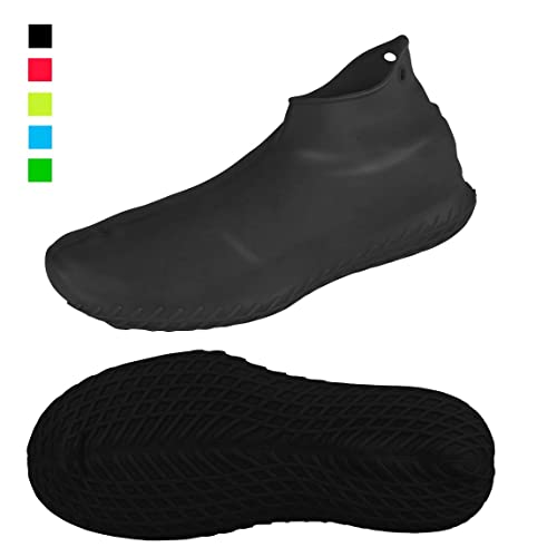 HLKZONE Waterproof Rain Boot Shoes Covers Foldable Reusable Slip Resistant Overshoes with Reflector for Women /& Men